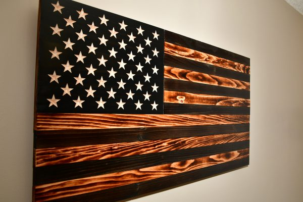 Wooden American Flag - Covert Series