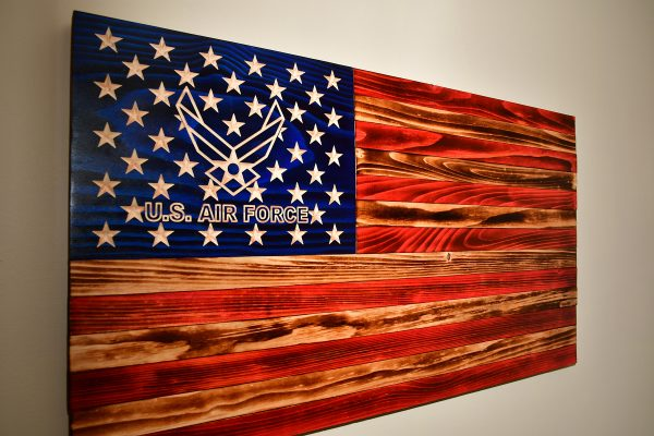 Air Force wooden rustic flag