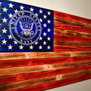 rustic navy flag